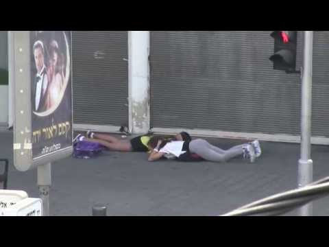 WATCH: Sirens Activated Tel-Aviv Israel - August 25, 2014 8:17am - HD