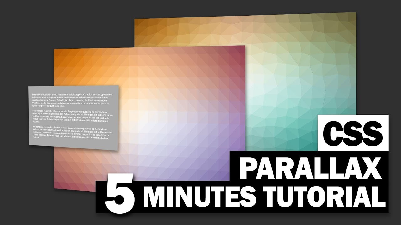 Stunning Pure CSS Parallax Scrolling | 5 Minutes Tutorial