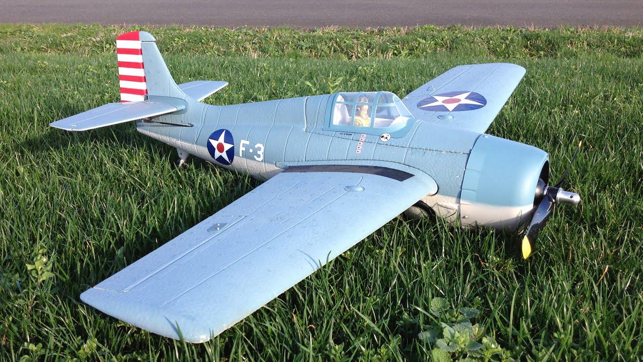 Parkzone F4F Wildcat WWII Warbird Scale Flight on a Nice Calm Day