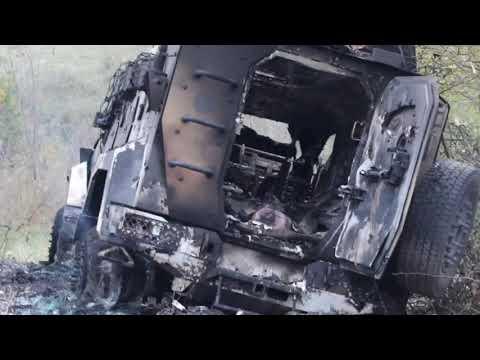 Срочно с линии фронта: Появилось фото уничтоженной колонны элитного спецназа Азербайджана в Карабахе