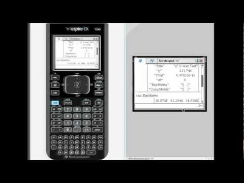 TI-NSPIRE Chi Square Test on 2 Way Tables