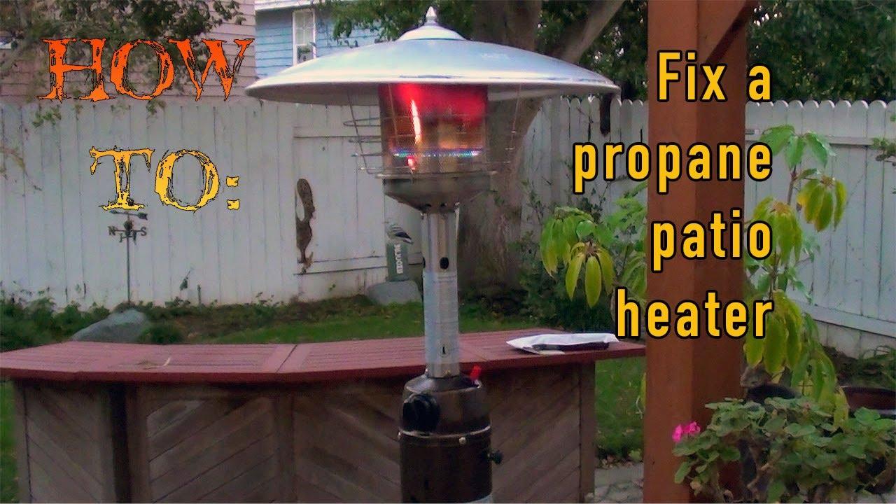 how to repair a propane patio heater