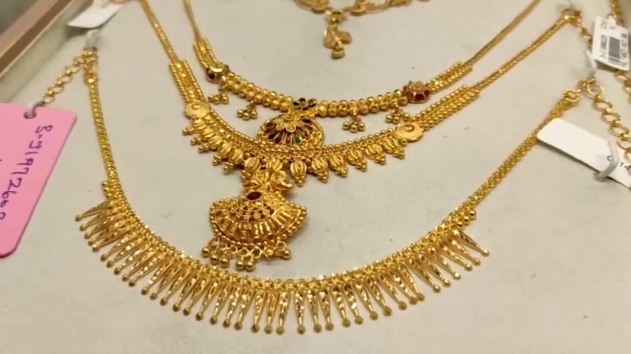Lalitha Jewellery Gold Shopping Earrings Necklace From 8 Grams Kada Bangles Jumkas From 6 Grams Youtube