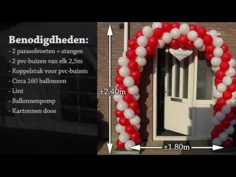Verbazingwekkend Zelf een ballonnenboog maken - YouTube LA-58