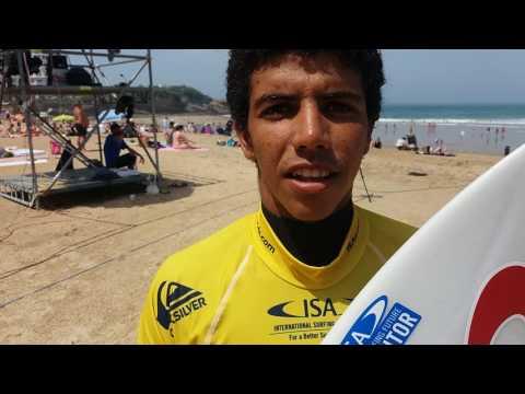 Un morocain au championnat du monde de surf à Biarritz