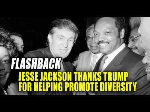 Trump Helped Create the Rainbow Coalition with Jesse Jackson