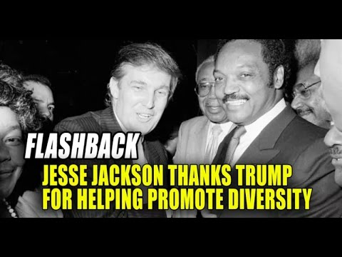 Trump Helped Create the Rainbow Coalition with Jesse Jackson