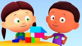 """Развивающий мультик """"Считаем с Полой"""" - фигуры и цифры для детей. Цифра 2. Строим домик"""