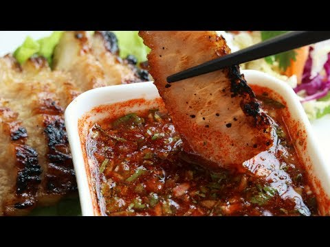 My ❤ Thai Recipes: BBQ Pork Neck