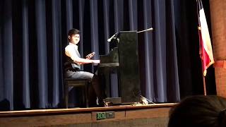 Kid plays sick piano memes at High School Talent Show