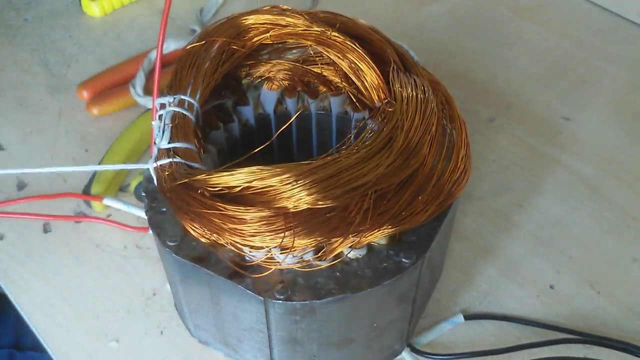 how to make three phase motor chain 2 pole rewinding part 6 - YouTube