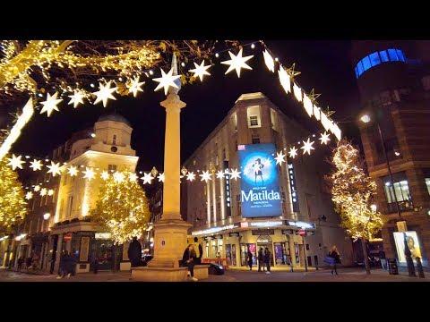 Christmas Walking London ✨ Seven Dials To Regent Street & Carnaby Street (Binaural City Sounds)