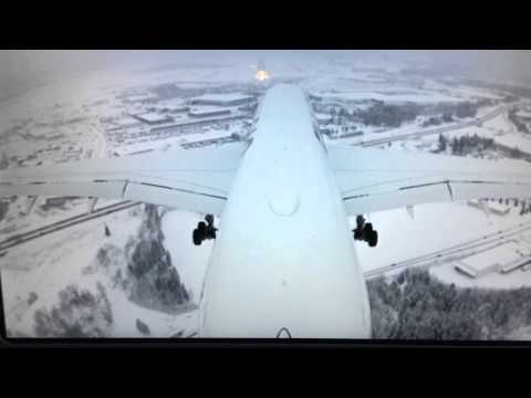 Landing at Helsinki Airport with the new Airbus 350 XWB (18.1.2016)