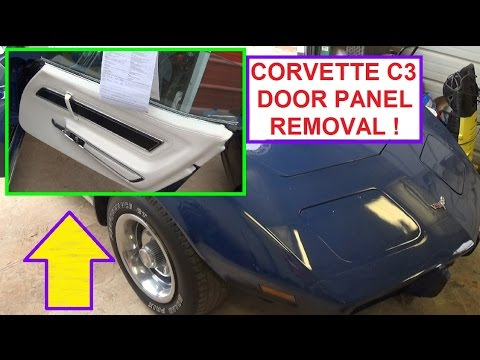 Door Panel Removal On Chevrolet Corvette C3 Generation  1968 - 1982