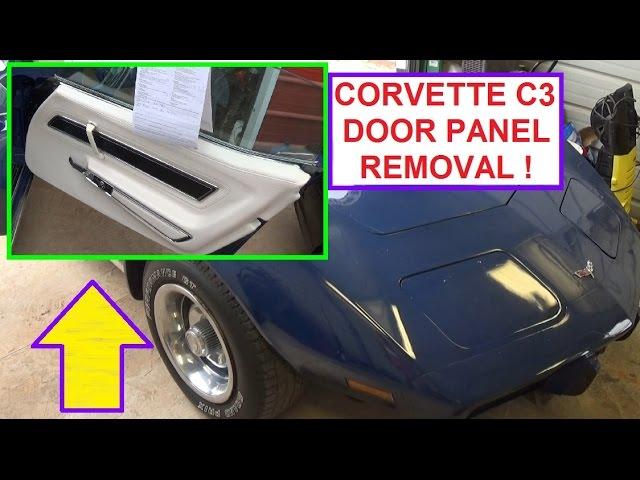 Door Panel Removal On Chevrolet Corvette C3 Generation 1968 1982 Youtube