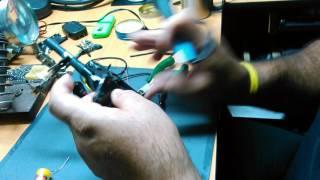 Adaptación de batería de celular  en radio walkie talkie Motorola T9500