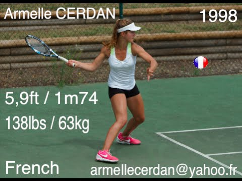 Armelle Cerdan Tennis Recruiting USA Academy FALL 2016