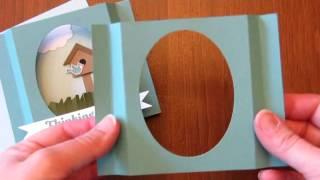 Bird House Punch Art Diorama Card Tutorial