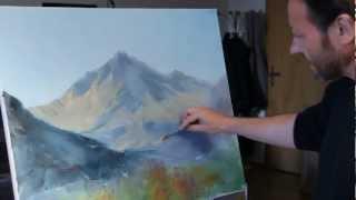 Самый обаятельный художник Игорь Сахаров! Горы