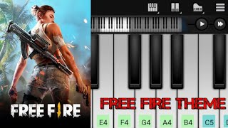 Free Fire Theme Song   Easy Piano Tutorial   Perfect Piano   Mobile Game