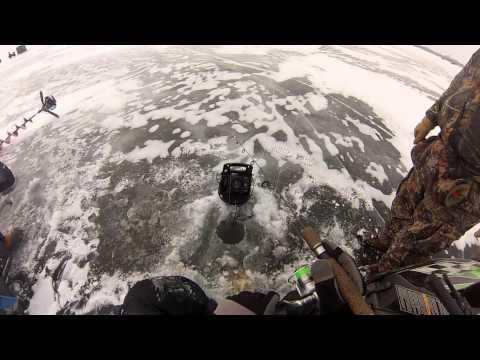 Ice fishing lake winnebago pre battle on bago youtube for Battle fish 2