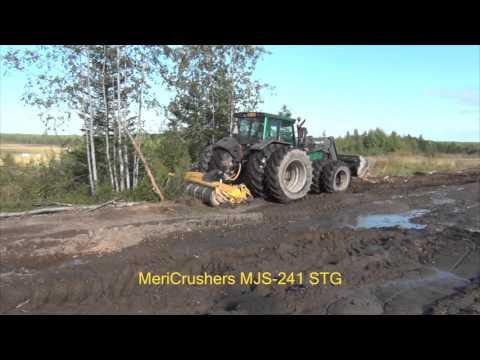 Clearing new farm land MeriCrusher MJS-241 STG