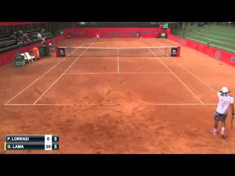 Paolo Lorenzi vs Gonzalo Lama [Parte 1] - 1st - Challenger de Bucaramanga 2015