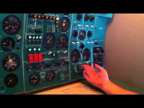 Engines Start Up Tupolev 154 RA 85535
