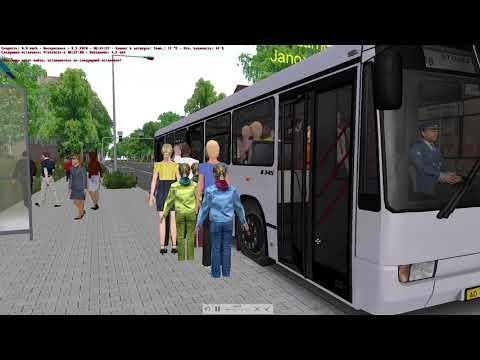 Omsi 2 Fikcyjny Szczecin маршрут 188 Mersedes - benz O 345 |
