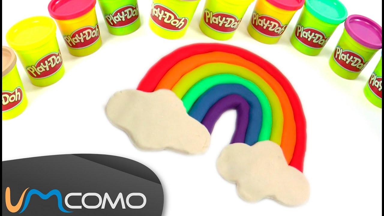 Arco íris Tutorial Simples Em Massinha Play Doh