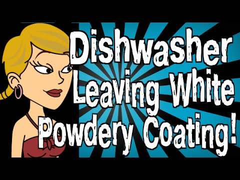 how to clean dishwasher of white residue