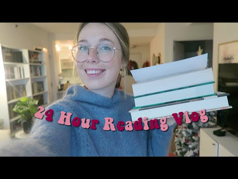 24 HOUR READING VLOG! (900+ Pages Read & Defeating A Reading Slump!)