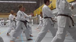 karate training Wado Ryu Karate Dan examen training 2018