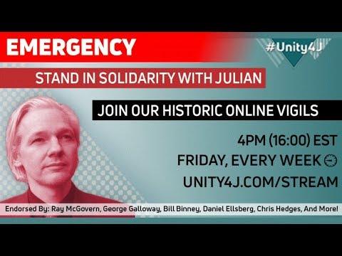 #Unity4J Online Vigil 33.0 in support of Julian Assange and WikiLeaks