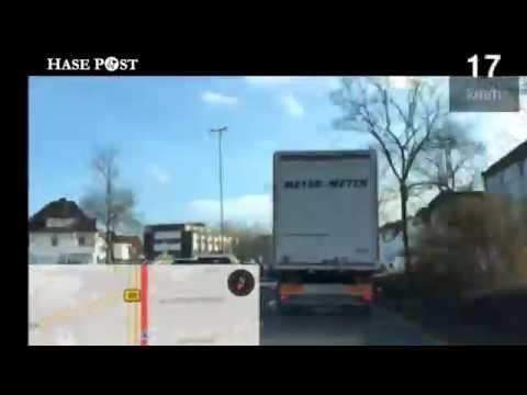 Osnabrück durchquert mit einem Speditions-LKW - Zeitraffer
