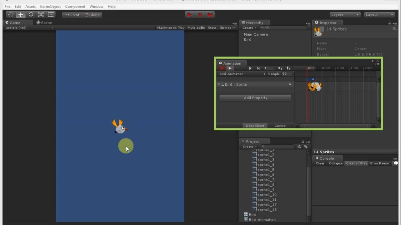 Making SpriteSheet Animation - Unity 2D Simply