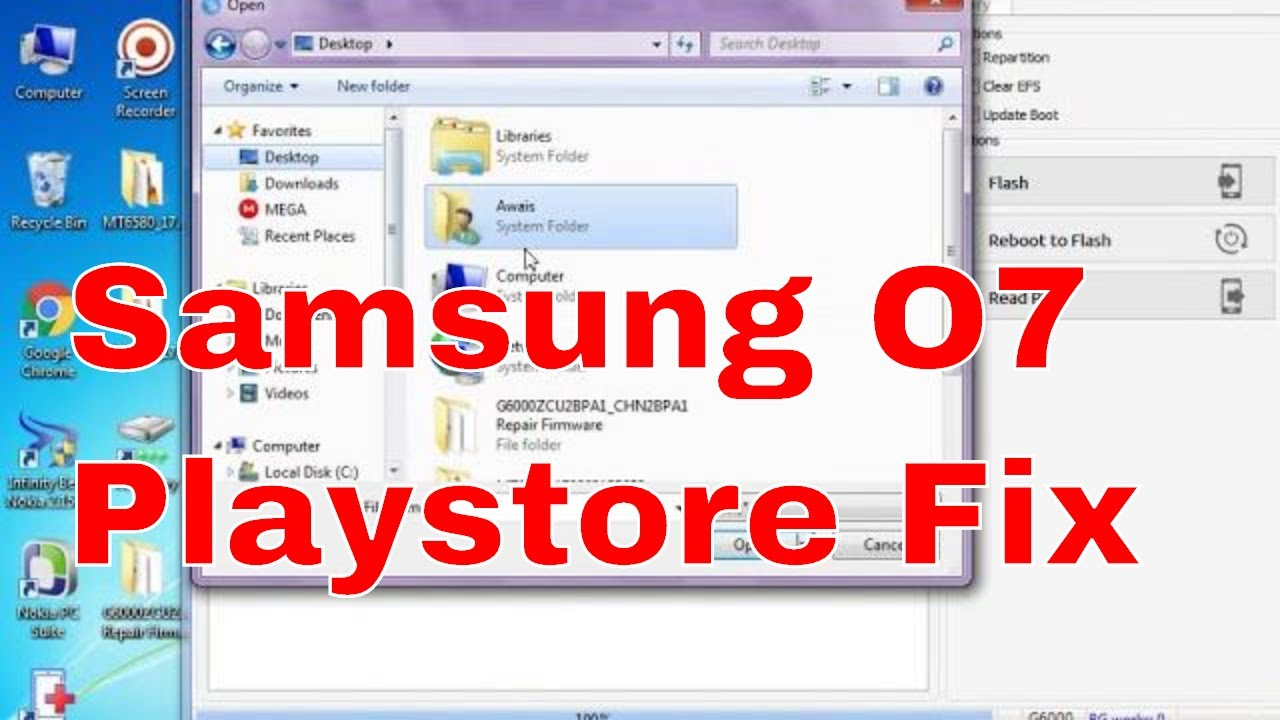 Samsung ON7 (SM-G6000) flash and Playstore fix By TCS