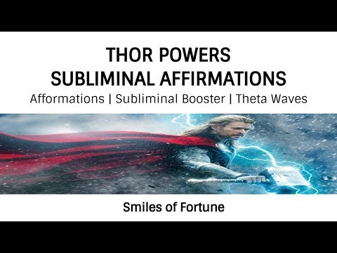 🎧👓THOR POWERS SUBLIMINAL AFFIRMATIONS☆Afformations Subliminal Booster Theta☆Be Like Thor Ragnarok