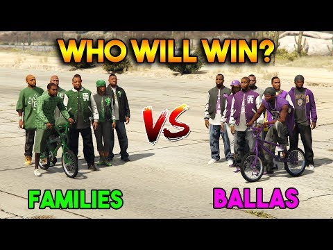 GTA 5 ONLINE : FAMILIES VS BALLAS (WHO WILL WIN?)