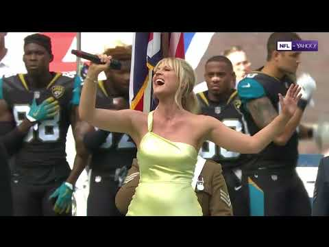 American & British National Anthems - Baltimore Vs Jacksonville (NFL) - September 24, 2017