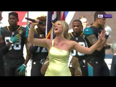 American & British National Anthems - Baltimore Vs Jacksonville (NFL) - September 24, 2017
