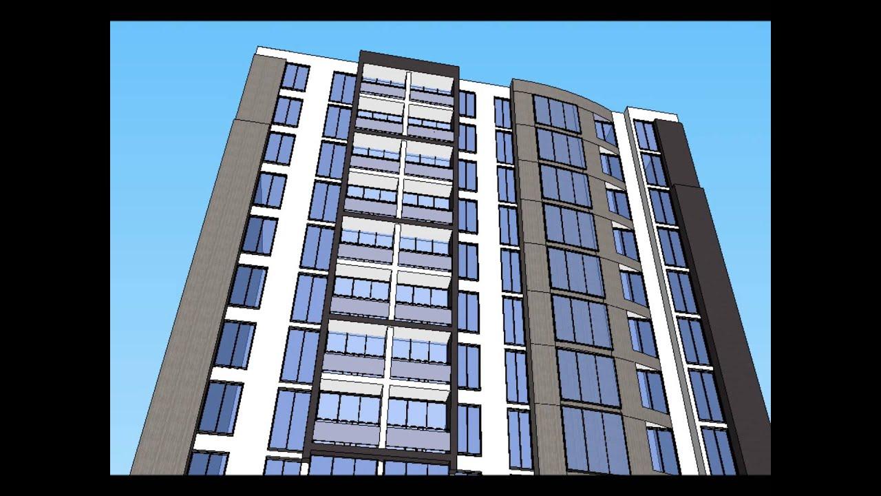 Mimetika cambio de imagen de fachada de edificio for Fachadas de edificios modernos