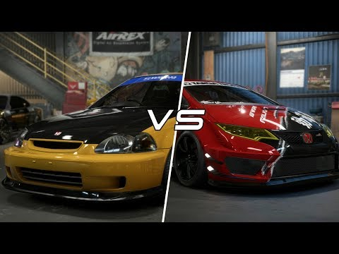 Need for Speed Payback | Old vs New CIVIC vs CIVIC Build