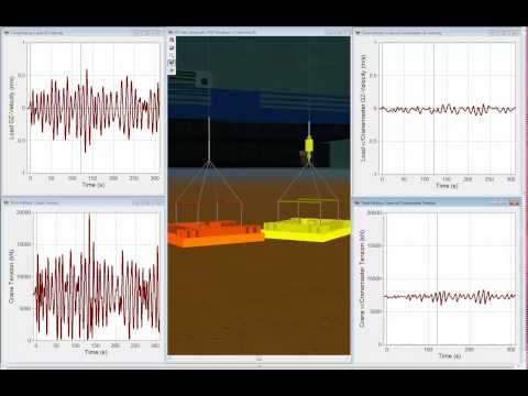 Subsea landing simulation with Cranemaster