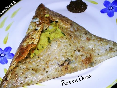 Ravva Dosa - Indian Andhra Telugu Breakfast Recipes  Indian