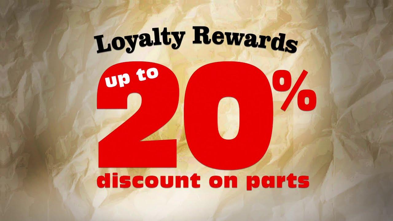 20% Discount on Parts - Loyalty Rewards