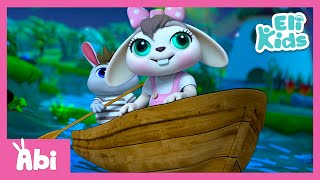 Row Row Your Boat | Sing with Abi | Nursery Rhymes | Best song for kids | Eli Kids