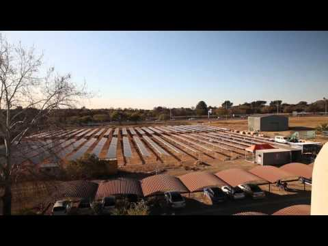 Solar energy plant for research on distributed energy generation; reduced carbon footprint - English