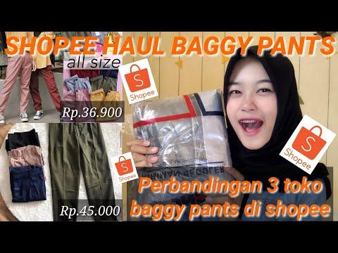 SHOPEE HAUL BAGGY PANTS || Nana Channel