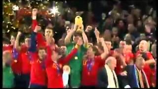 World Cup 2010 Final   Spain lifting FIFA WORLD CUP 2010 TROPHY